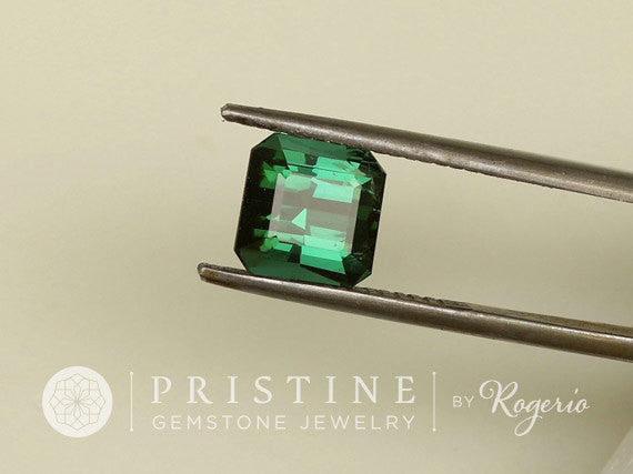 Blue Green Tourmaline 2.81 cts Square October Birthstone Loose Gemstone for Fine Gemstone Jewelry