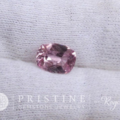 Pink Spinel Cushion Shape Loose Gemstone for Engagement Ring or Fine Jewelry Morgnite Alternative