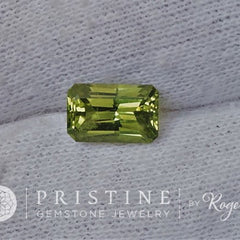 Radiant Cut Green Sapphire 2.14cts September Birthstone