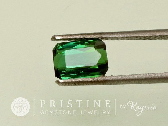 Green Tourmaline Loose Gemstone emerald Cut Shape for Fine Jewelry Ring or Pendant October Birthstone