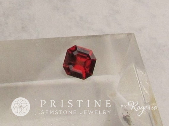 Asscher Cut  Red Spinel Fine Loose Natural Gemstone for Engagement Ring Anniversary Ring or 14k Gold Ring