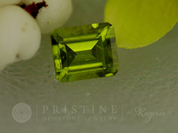 Peridot Emerald Cut Shape over 7cts August Birthstone for Engagement Ring