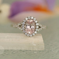 Champagne Pink Sapphire Engagement