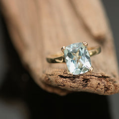 handmade aquamarine ring