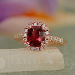 Ruby alternative Red Spinel Engagement Ring