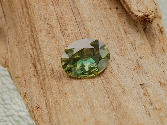 Oval Green Sapphire 1.56ct