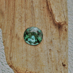 blue green tourmaline cushion cut