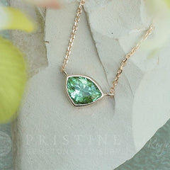 triangle paraiba color tourmaline necklace