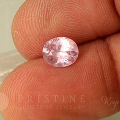 Blush Pink Sapphire Oval Shape September Birthstone
