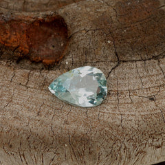 natural sky blue aquamarine pear shape