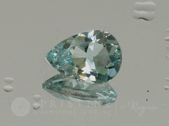 Aquamarine Pear Shape for Engagement Ring Loose Natural March Gemstone