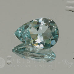 pear shape sky blue aquamarine