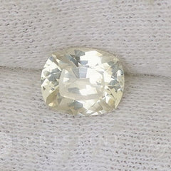 Champagne Yellow Sapphire Square Cushion Shape Loose Gemstone for Weddings Anniversary Ring or Engagement Ring September Birthstone