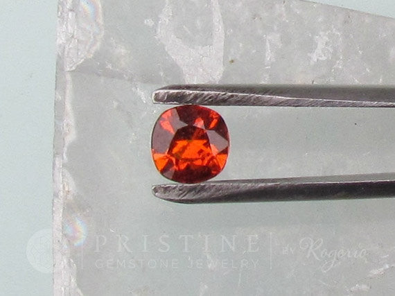 Orange Sapphire Square Cushion  Loose Gemstone for Weddings Anniversary Ring or Engagement Ring September Birthstone