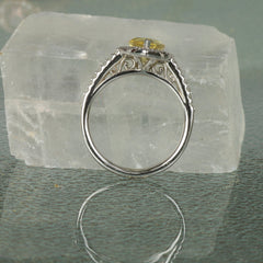 side view of engagement ring
