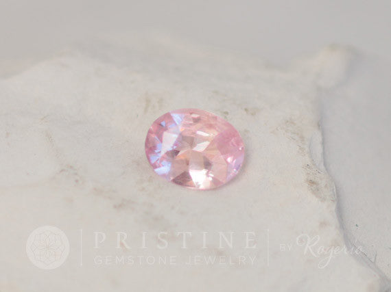 Rose Petal Pink Sapphire Oval Loose Gemstone  Approximately 9x7 MM for Engagement Anniversary for 14k Rose Gold Gemstone Engagement Ring
