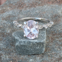 2.61ct Baby Pink Sapphire Vintage Inspired Engagement Ring