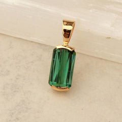unique handmade green tourmaline pendant