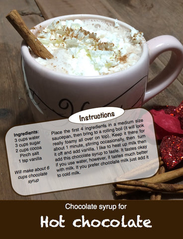 Chocolate Syrup Recipe. Have you ever read the ingredients the syrup at the store?