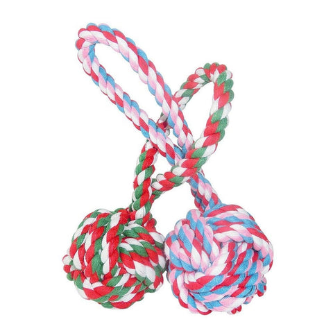 BOGZON Dogs & Cats Chewing Toy With a Tug - Pet Puppy Knotted Cotton Rope Toy... - Chickadee Solutions - 1