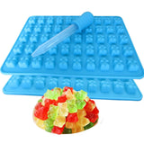 2 Pack 50 Cavity Silicone Gummy Bear Candy Chocolate Mold With a Bonus Droppe... - Chickadee Solutions - 1