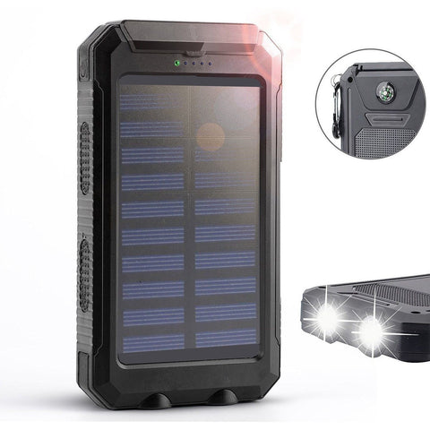 Solar ChargerSolar External Battery PackPortable 8000mAh Dual USB Solar Batte... - Chickadee Solutions - 1