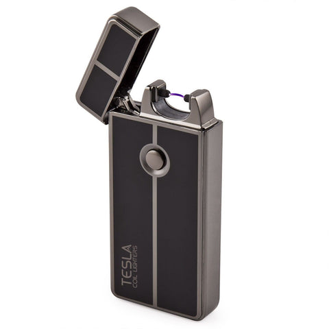 Tesla Coil LightersTM USB Rechargeable Windproof Arc Lighter Gun Metal - Chickadee Solutions - 1