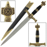 King Solomon Medieval Crusader Dagger Black - Chickadee Solutions - 1