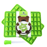 NEW Premium Gummy Bear Mold - 2 PACK - BONUS DROPPER - 100 Bears on Trays + R... - Chickadee Solutions - 1