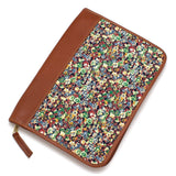 General Knot Vintage Floral Print and Leather IPad Computer Case - Chickadee Solutions - 1