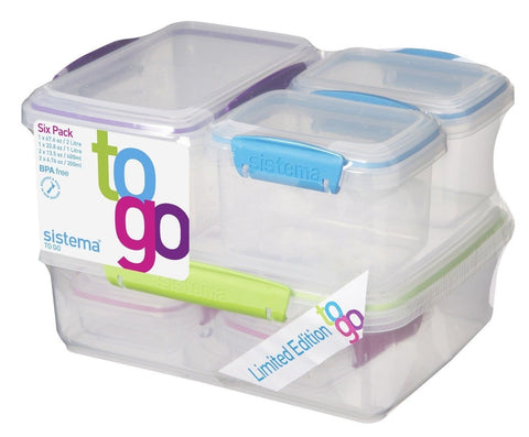 Sistema To Go Collection Lunch Plus Multi Food Storage Containers Assorted Co... - Chickadee Solutions - 1