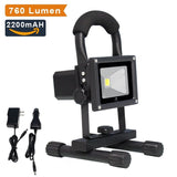LTE 10W Cordless Outdoor Portable Rechargeable LED Work Light 60W Halogen Bul... - Chickadee Solutions - 1