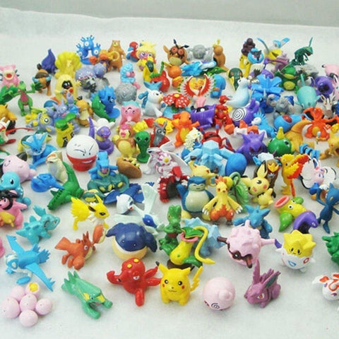 Moddan Pokemon Mini Figures Pikachu Toys Topper - Lot of 24 Piece 1'' - Chickadee Solutions - 1