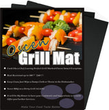 Top BBQ Grill Mat Nonstick Heavy Duty Grill Mates-16x13 Inch(Set of 2) - Chickadee Solutions - 1