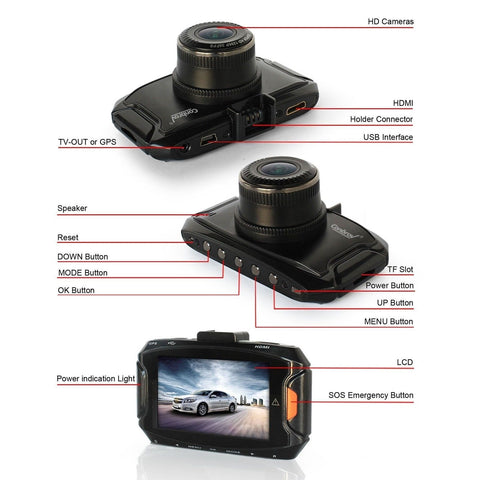 conbrov t h p full hd dash cam car video camera auto dashboard driving recorder with super good low