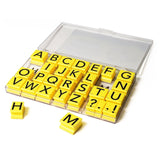 "Educational Insights Alphabet Rubber Stamps Jumbo - Uppercase 1"" - Chickadee Solutions - 1"