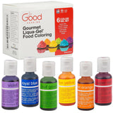 Food Coloring Liqua-Gel - 6 Color Rainbow Kit in .75 fl. oz. (20ml) Bottles - Chickadee Solutions - 1