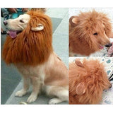 Gimilife Dog Costume Lion Mane Wig Light Brown - Chickadee Solutions - 1