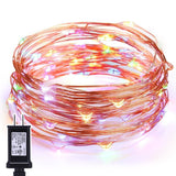 LED Starry String LightsOak Leaf 120 LEDs Copper Wire Waterproof Dcor Rope Li... - Chickadee Solutions - 1