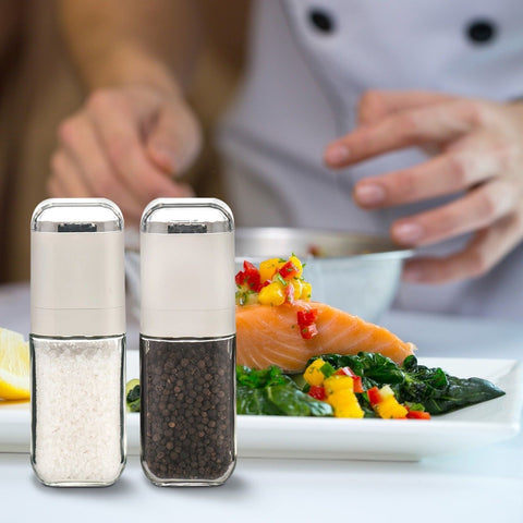 Salt And Pepper Grinder Set By Alpha Armour Kitchen