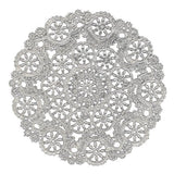 Royal Lace Round Foil Doilies Silver 12-Inch Pack of 6 (B26507) - Chickadee Solutions
