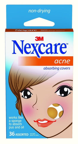 Nexcare Acne Absorbing Cover Two Sizes 36 Count Pack of 1 - Chickadee Solutions - 1