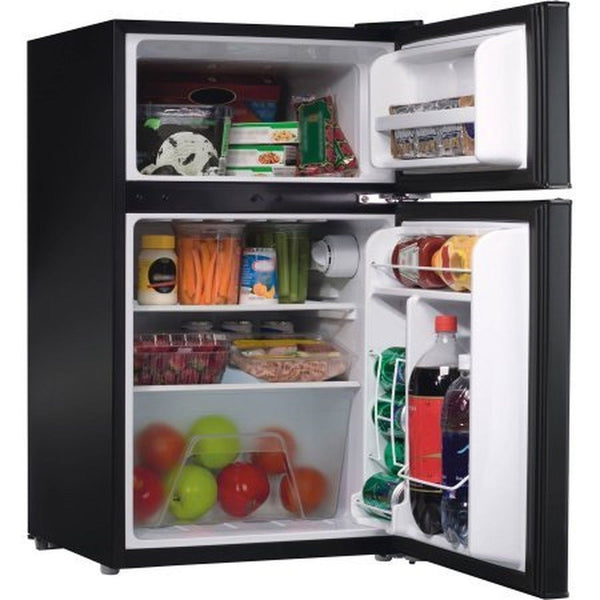 Galanz 3.1 Cu Ft Compact Refrigerator | Adjustable Thermostat Control Black | Chickadee Solutions