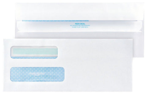 Quality Park #10 Double Window Envelopes Self-Sealing (Redi-Seal) 500 Envelop... - Chickadee Solutions - 1