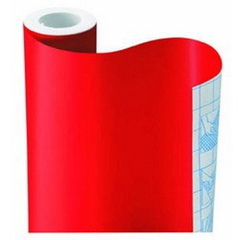 Magic Cover Self-Adhesive Shelf Liner 18-Inch by 9-Feet Solid Red - Chickadee Solutions
