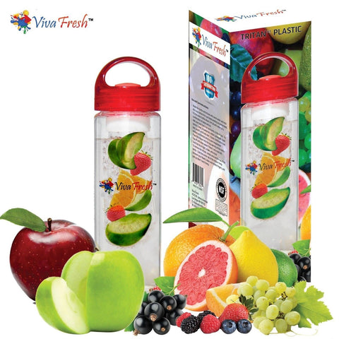 Infusion Water Bottle - by Viva Fresh Premium 24oz BPA Free Colored Fruit Inf... - Chickadee Solutions - 1