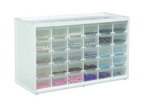 Artbin store in drawer cabinet white art craft supply for Storage solutions for arts and crafts