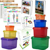 7 Piece Portion Control Containers Colored Set By All-Green + FREE 21 DAY PDF... - Chickadee Solutions - 1