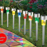 8PACK 4Color Stainless Steel Solar Light Sogrand Solar Paythway Light Solar S... - Chickadee Solutions - 1