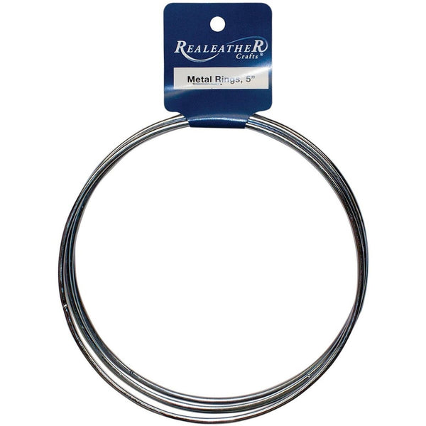 Realeather crafts zinc metal rings 5 inch 4 pack for Metal craft rings walmart